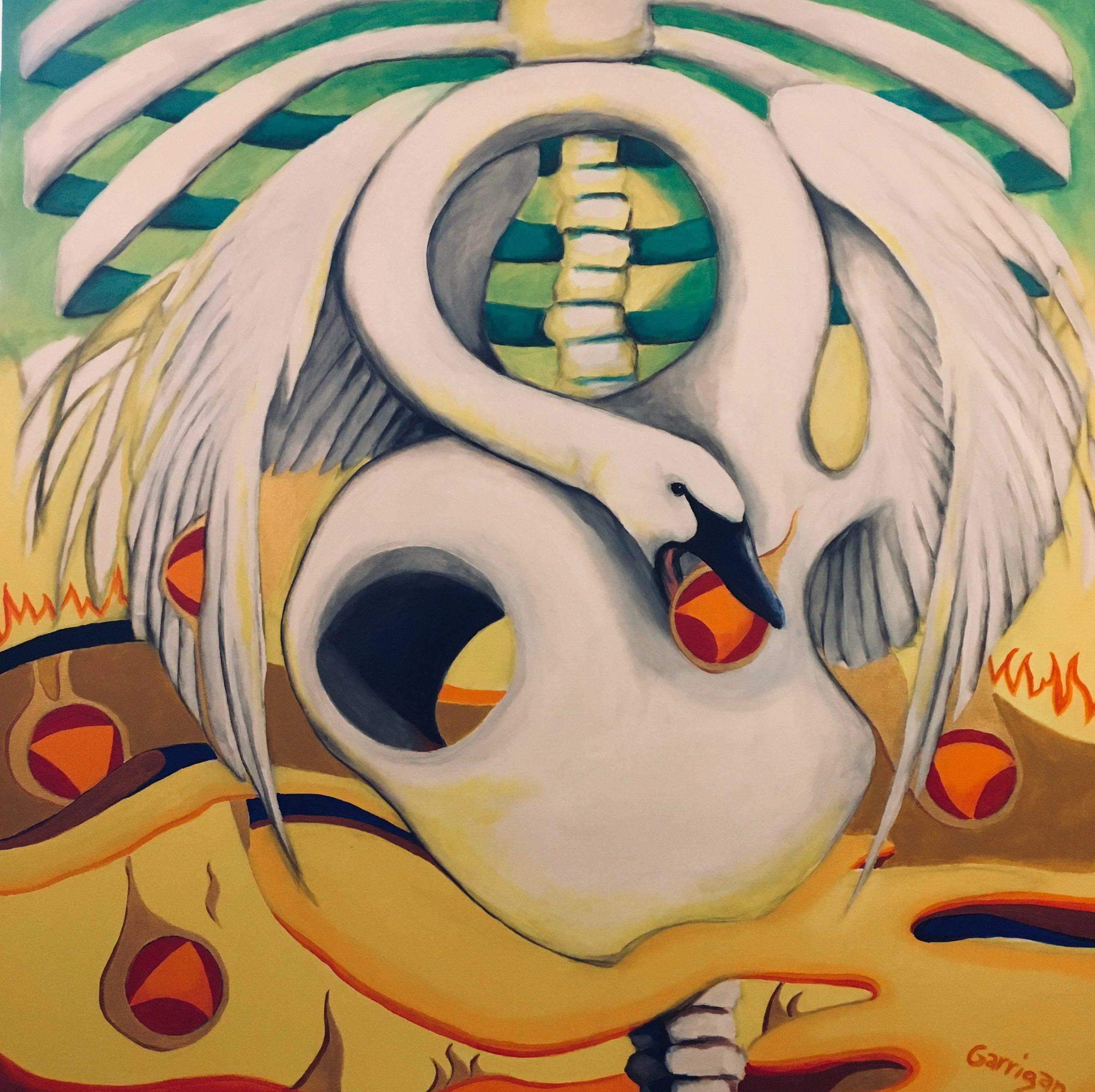 Anxiety Chakra Series #3 Solar Plexus Swan Song 2020 Garrigan