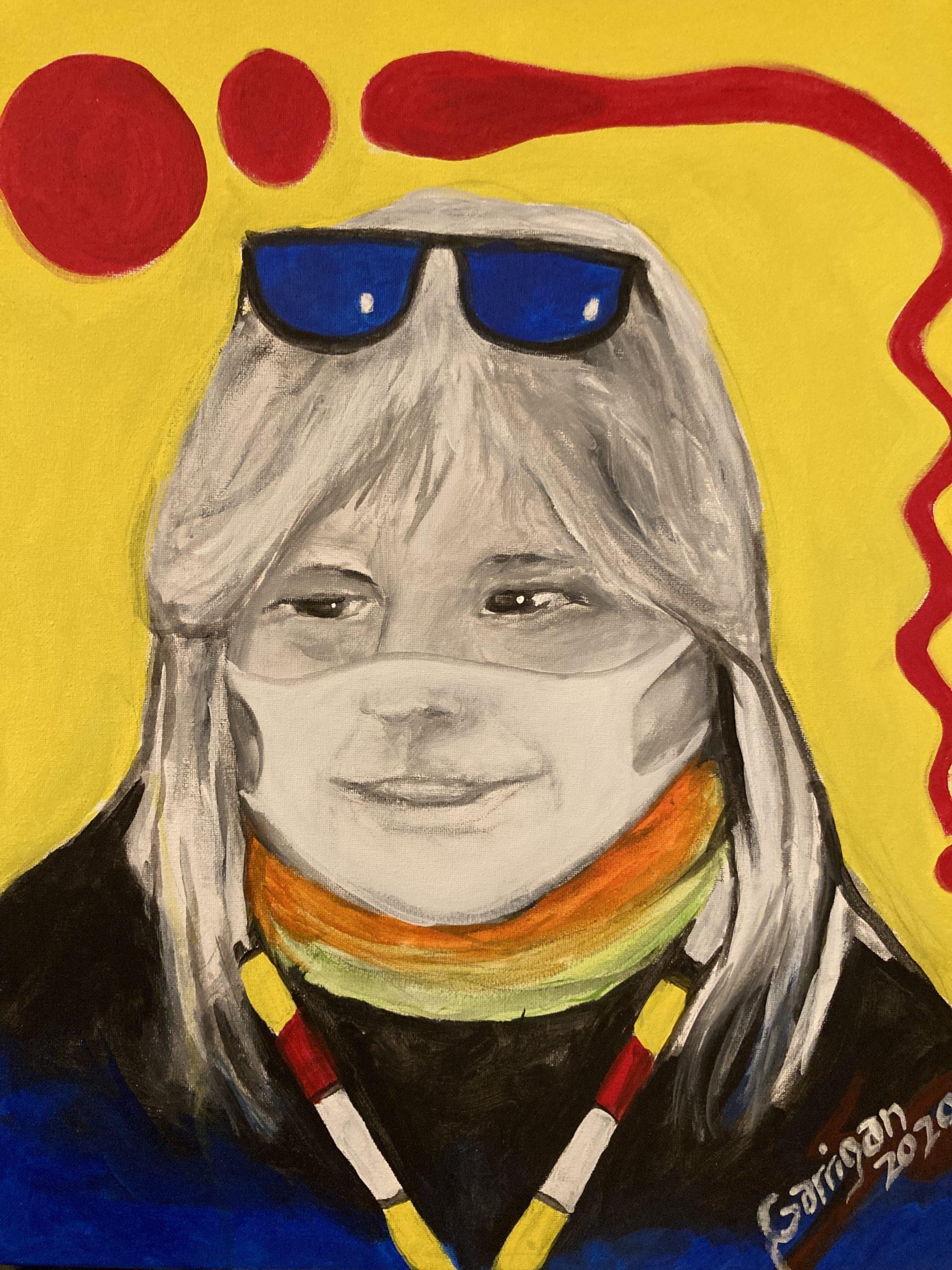 Self portraits study #2 2020 Garrigan